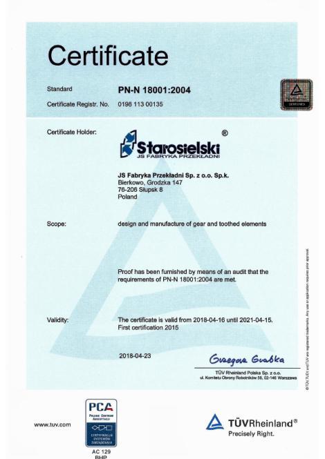 PN-N-18001:2004